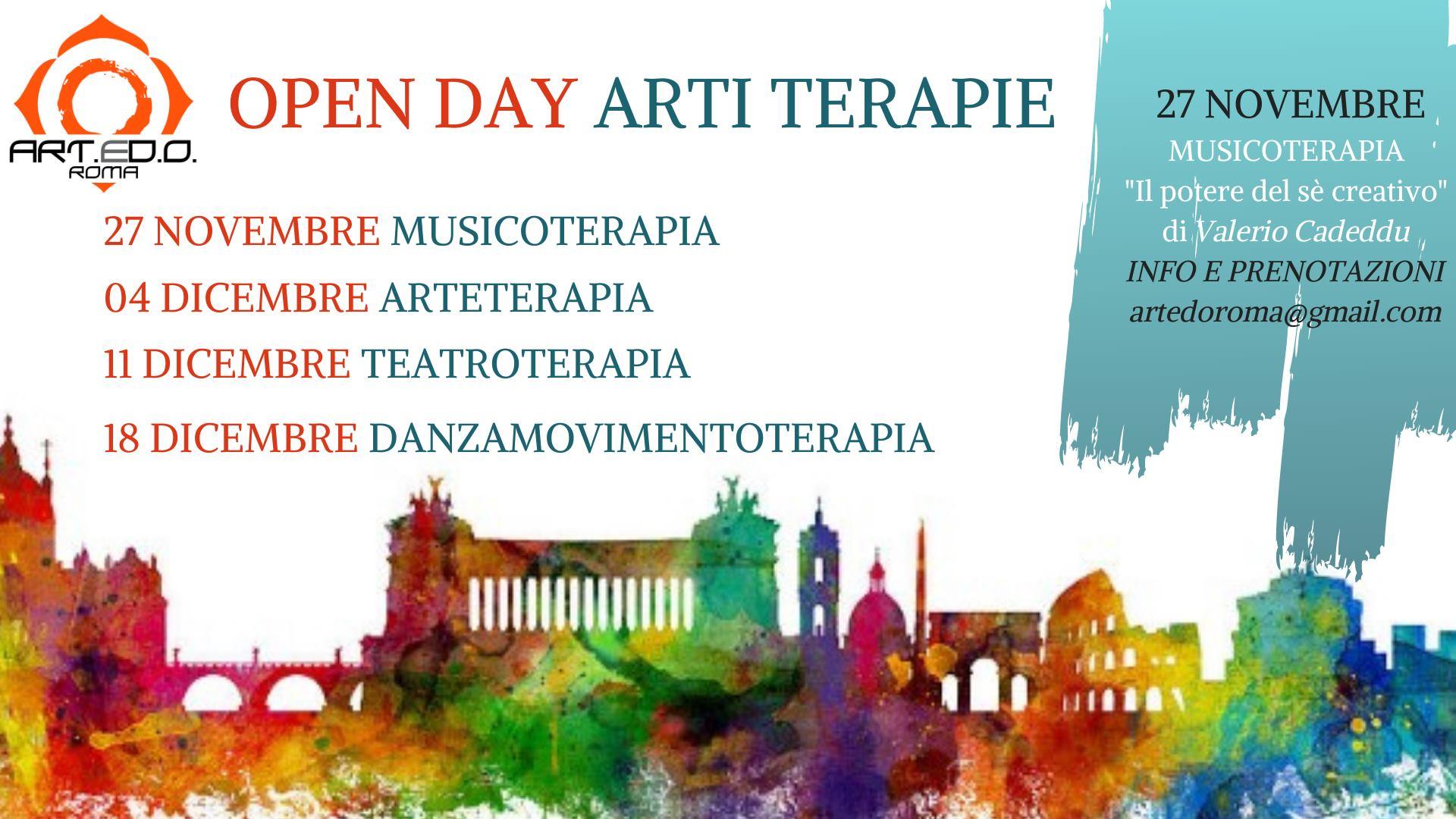 4 Open day gratuiti dedicati alle Arti Terapie